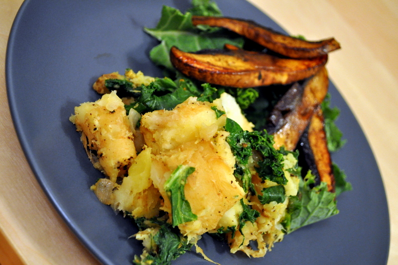 ... Holiday Workout and Caramelized Onion & Kale Sweet Potato-Parsnip Mash