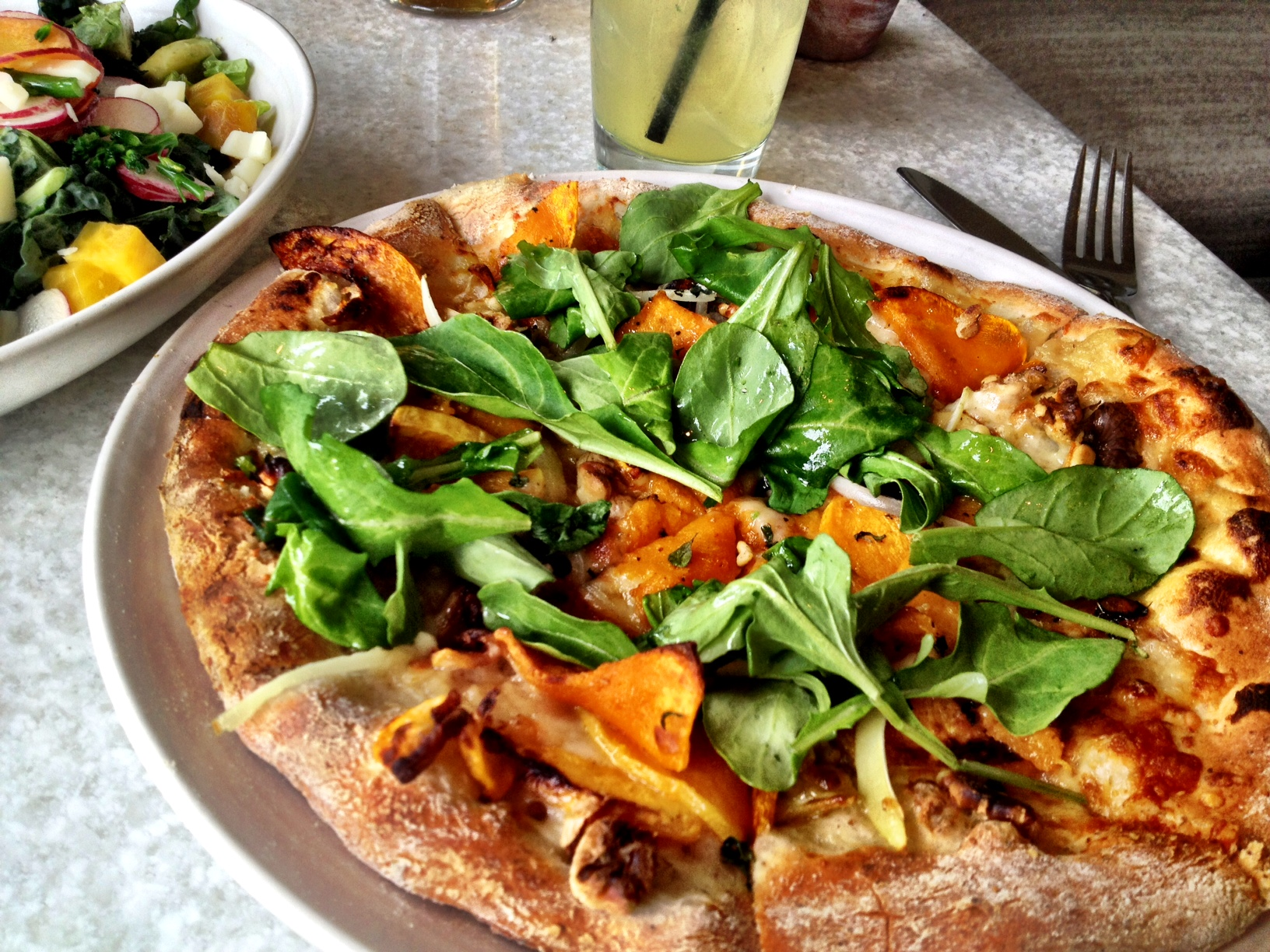 Butternut squash pizza from True Food