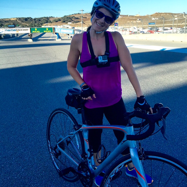 Bicycle Night Ride at Laguna Seca Mazda Raceway, California