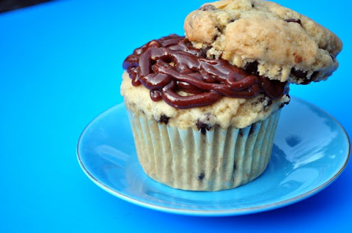 Peanut Butter Chocolate Chip Cookie Dough Cupcakes