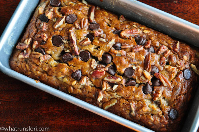 Chocolate Chip Pecan Banana Bread