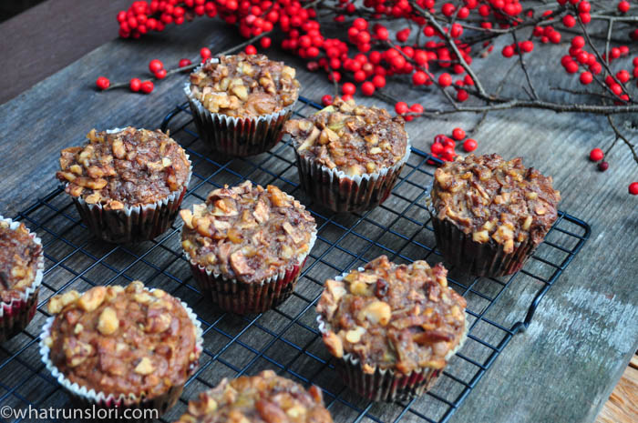 Healthy Apple Walnut Carrot Muffins