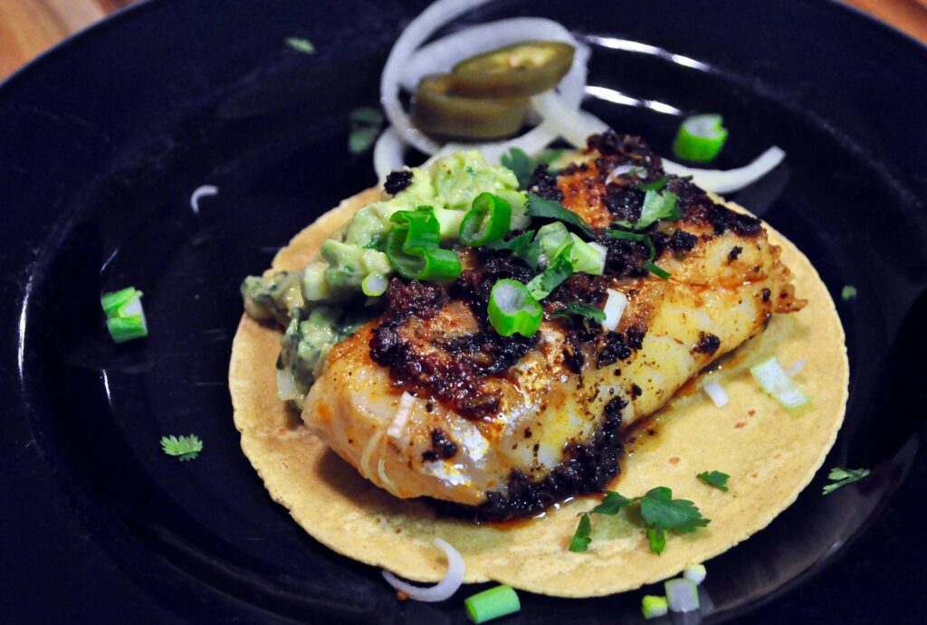 Epically spiced cod fish tacos with paleo low carb for Cod fish tacos
